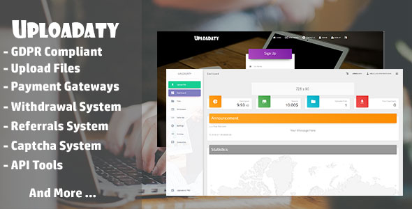 Uplaodaty: Make money from file uploads